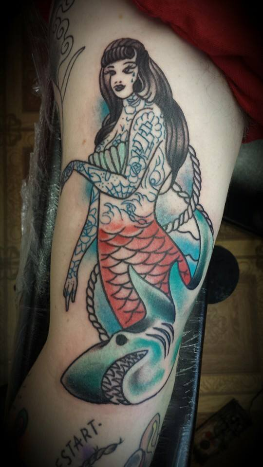 Taditional Mermaid Tattoo