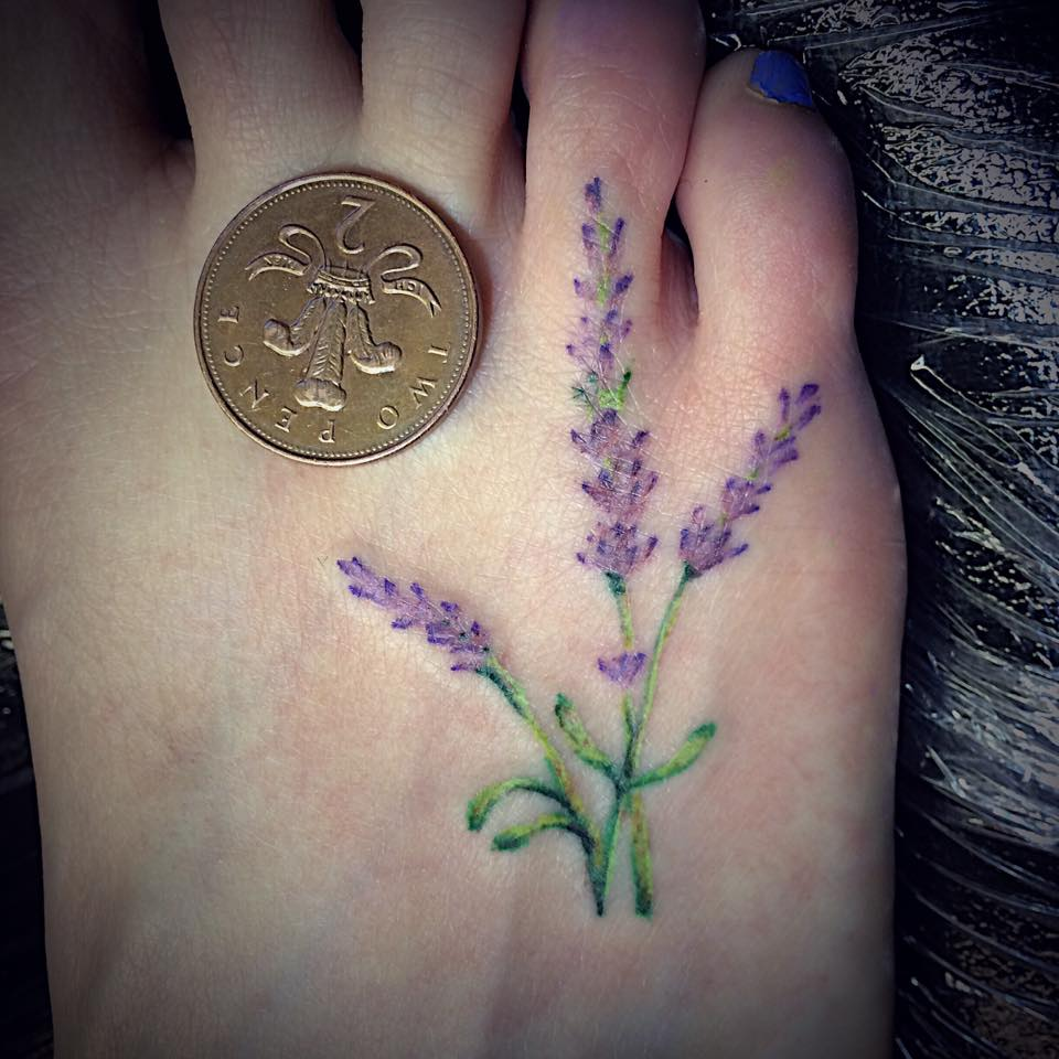 Tiny Lavender On Foot