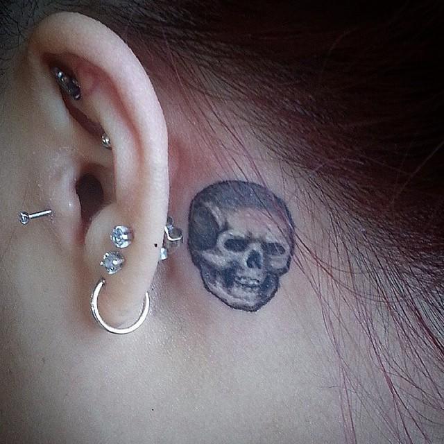 Tiny Skull Behind The Ear