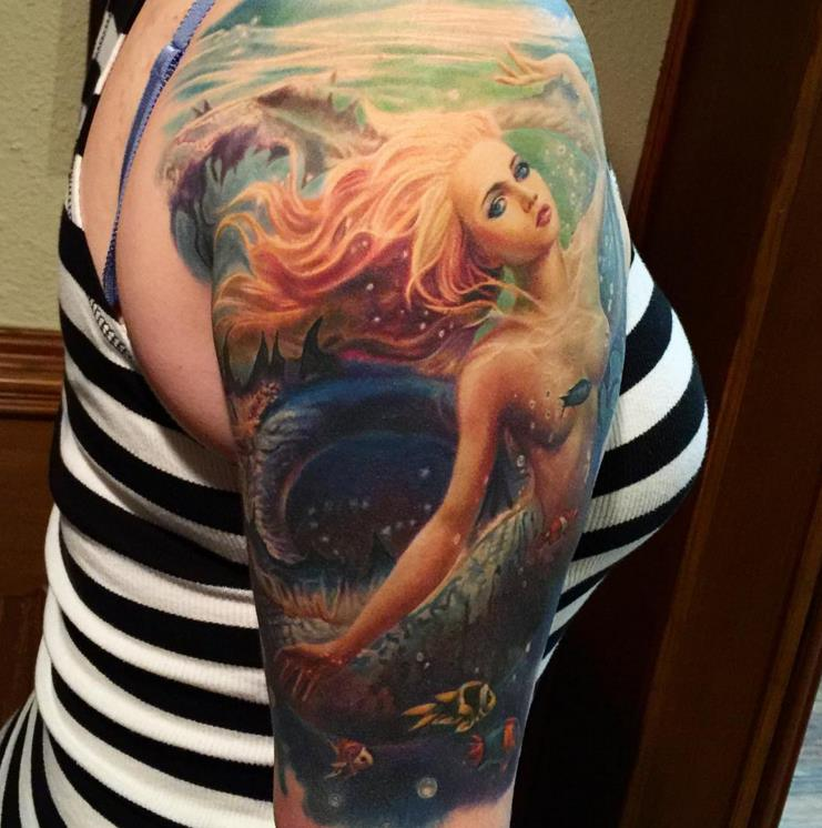 Wonderful Mermaid Tattoo
