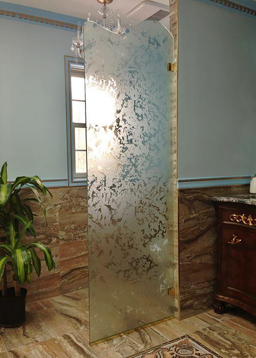 Perfect Beautiful U0026 Stylish Textured Glass Door