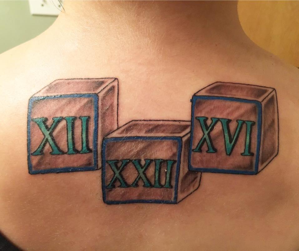 roman numerals tattoo fonts