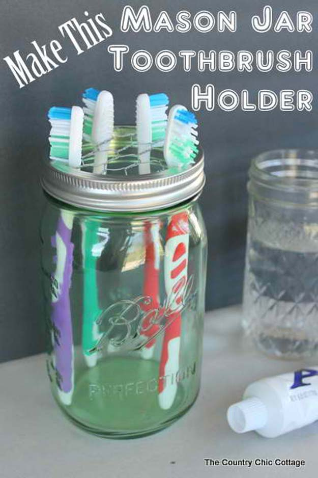 Charsmatic Mason Jar Toothbrush Holder