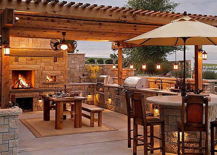small rustic outdoor kitchen designs   40 Environment Friendly Outdoor Kitchen Ideas to Inspire You