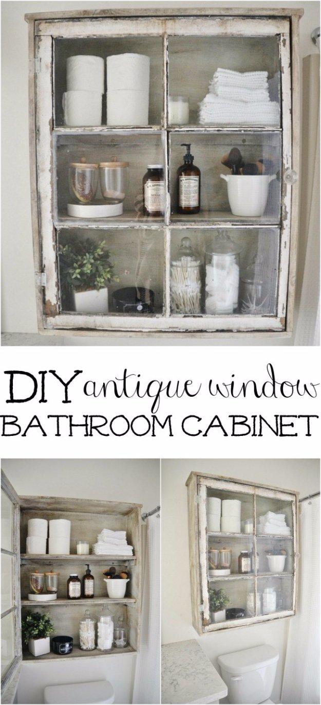 Fantastic DIY Antique Window Bathroom Cabinet
