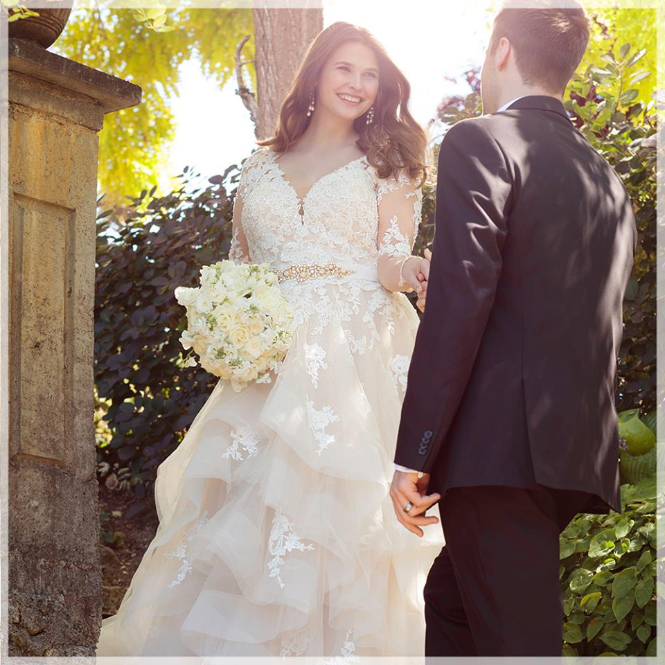 Flare Style Romantic A-Line Plus Size Wedding Gown