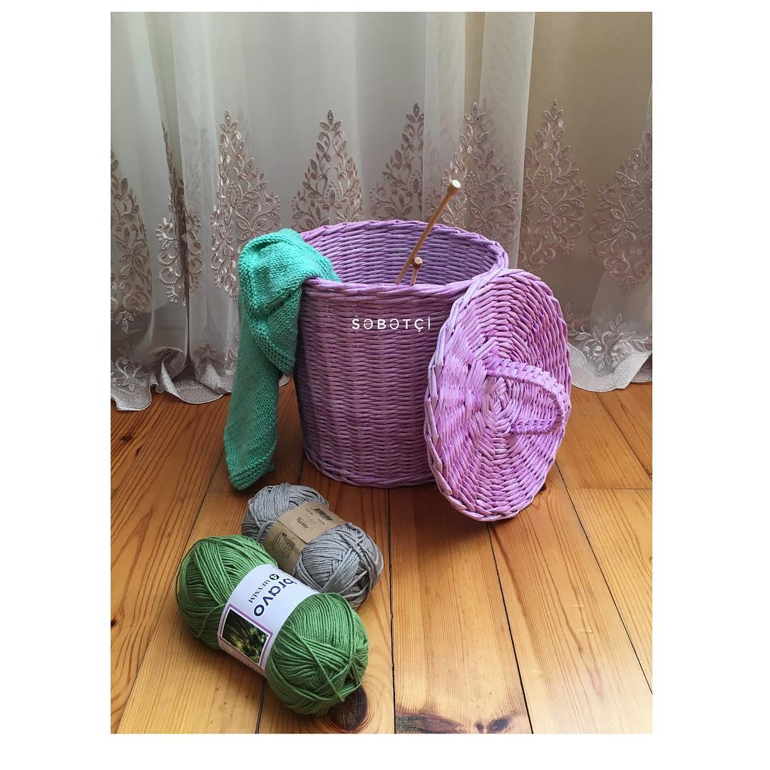Gorgeous Paper Weaving Basket
