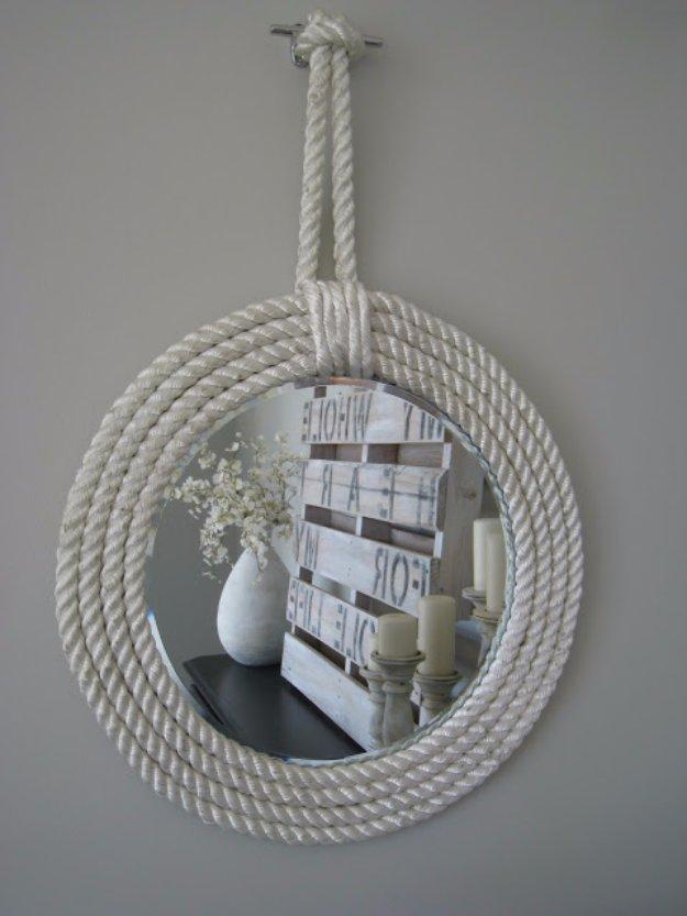 Graceful Nautical Rope Mirror