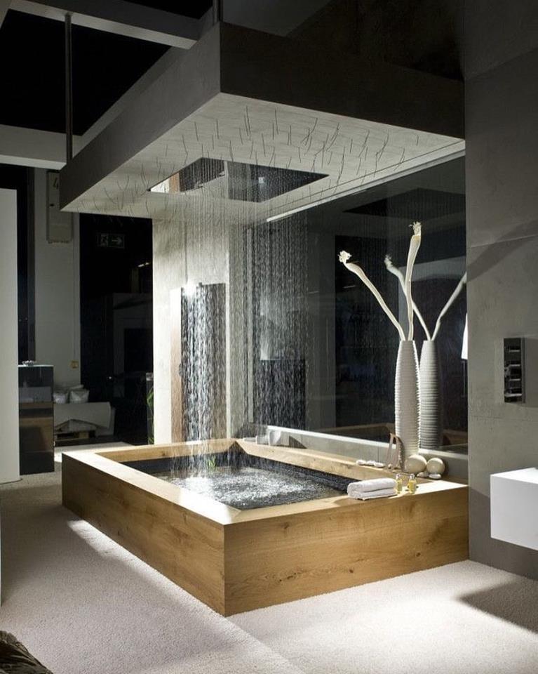 luxury rain shower with beautiful decor - Luxury Rain Showers