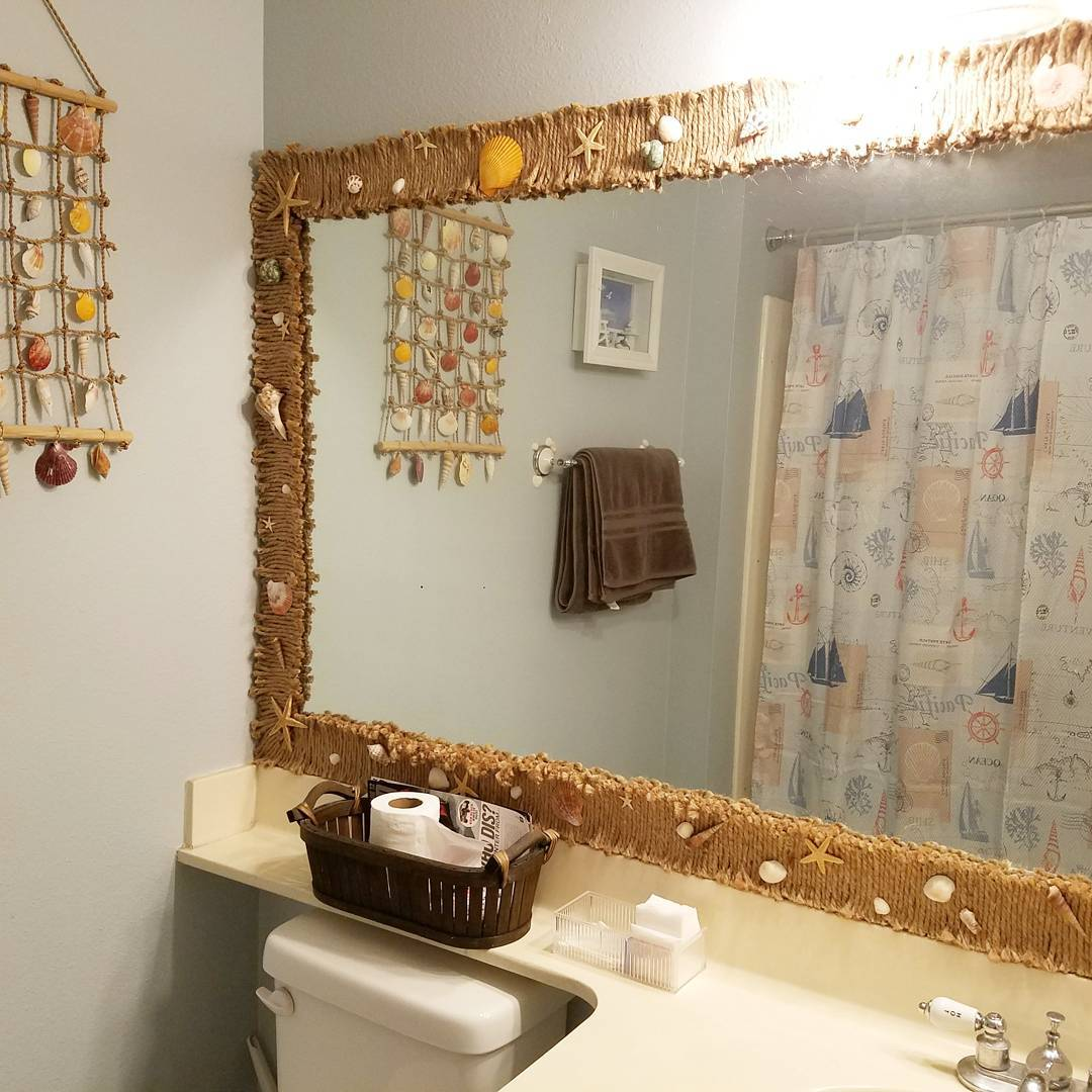 Mirror & Wall Is Decorated By Starfish