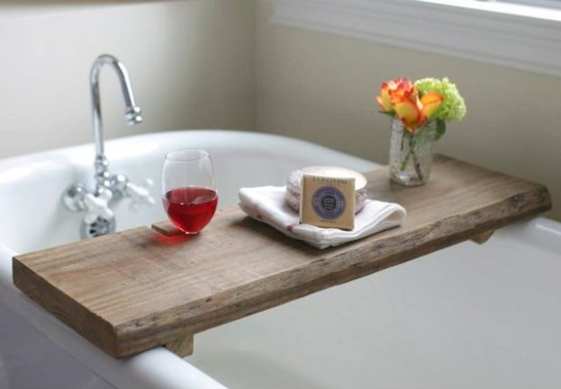 Ravishing DIY Rustic Tub Board
