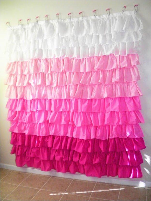 Ruffled Shower Curtain For Amazing Bathroom Decor