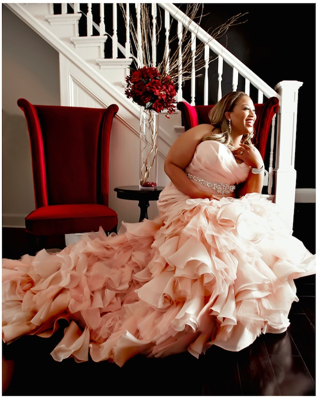 Stunning Colored Plus Size Gown For Plus Size Women