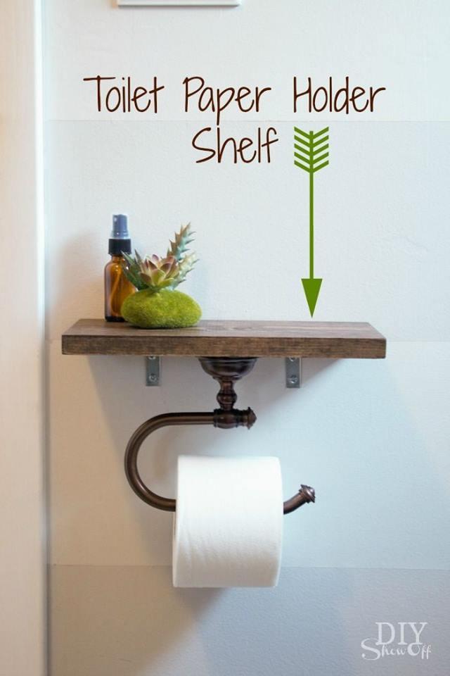 Ultimate DIY Toilet Paper Holder Shelf