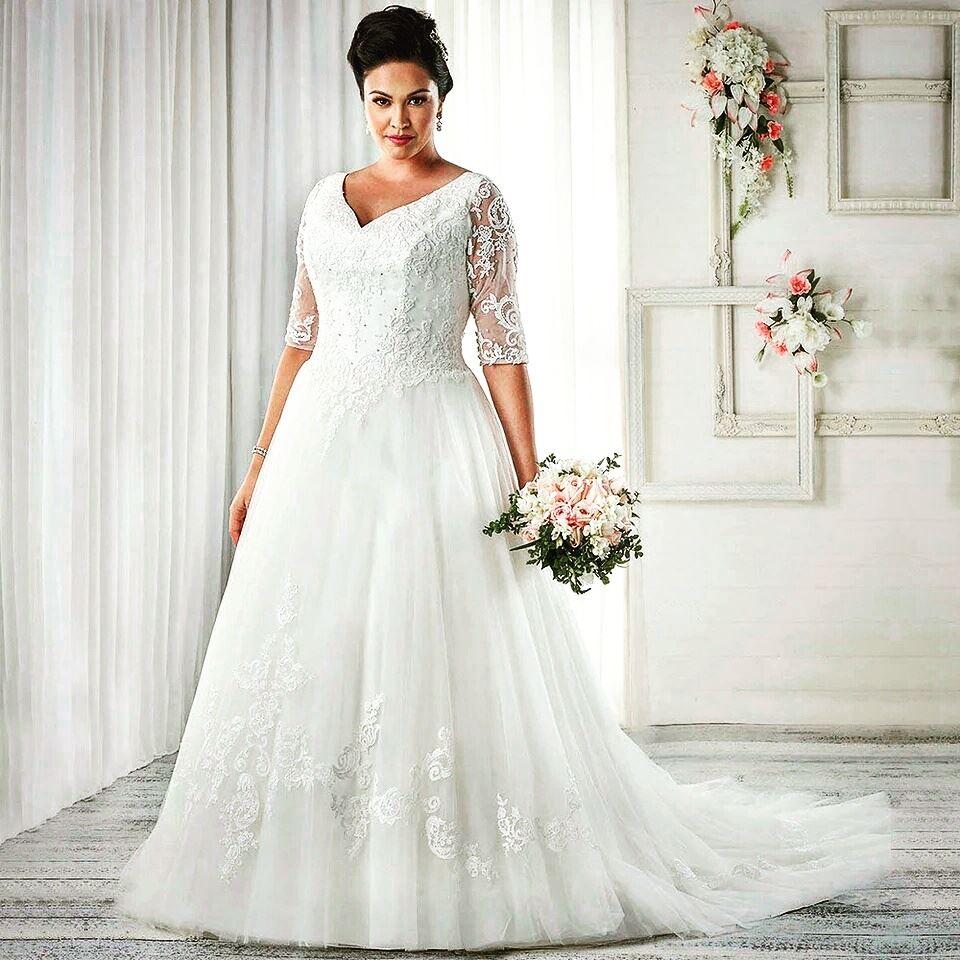 Vintage Syle Plus Size Gown For Bride