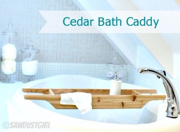 Wonderful DIY Cedar Bath Caddy