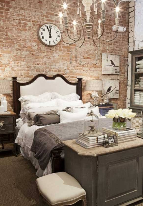 Wonderful Rustic Style Bedroom With Adorable Brick Wall  Rustic Crafts    Chic Decor. 50 Charming and Rustic Bedroom D cor for Stylized Living