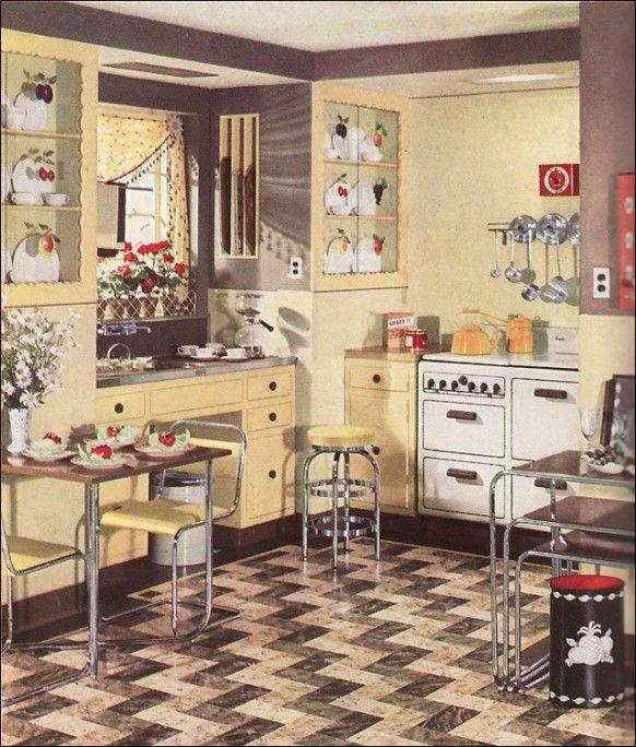 1930's Retro Style Chrome Kitchen