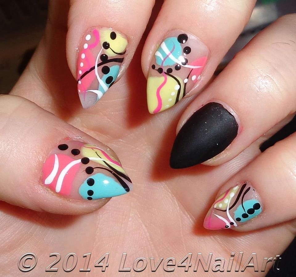 Pointy Nail Designs With Rhinestones Hireability