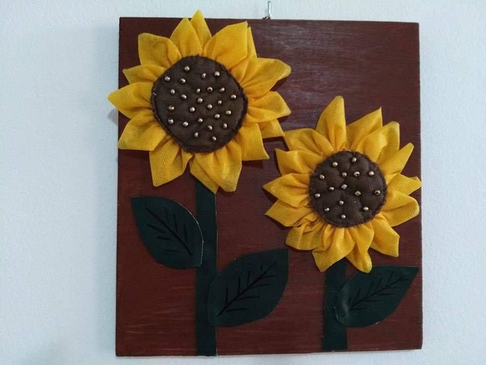 Alluring Fabric Sunflower For Wall Decor