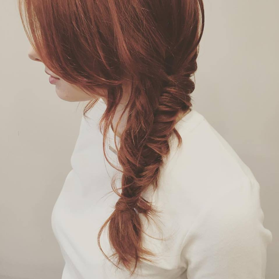 Amazing Red Hairs With Loose Braid