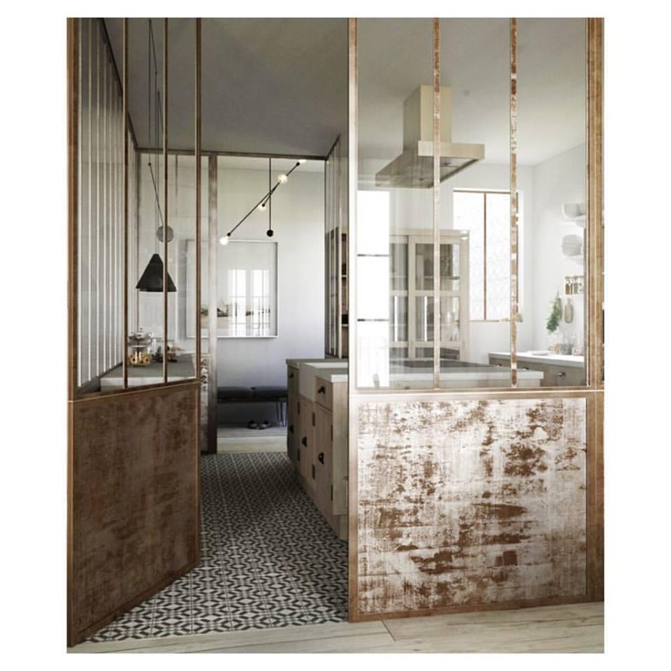 Beautiful Art Deco Style Flooring Kitchen Idea