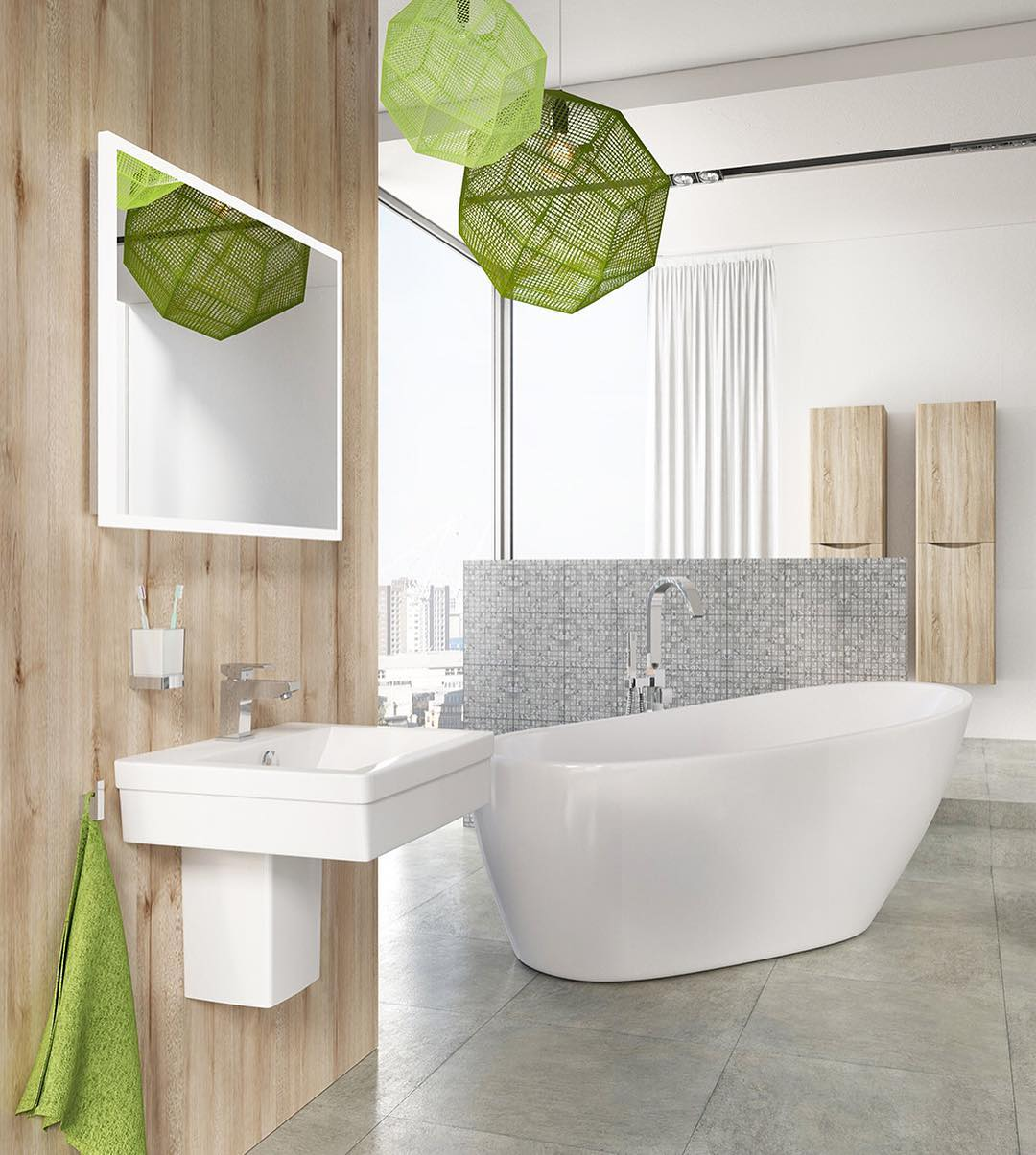 Beautiful Bathroom Color Schemes: 55 Hottest Contemporary Bathroom Ideas To Vow For
