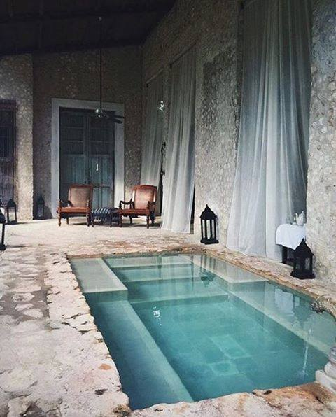 42 luxurious indoor swimming pool ideas for a heightened feel for Small indoor pool ideas