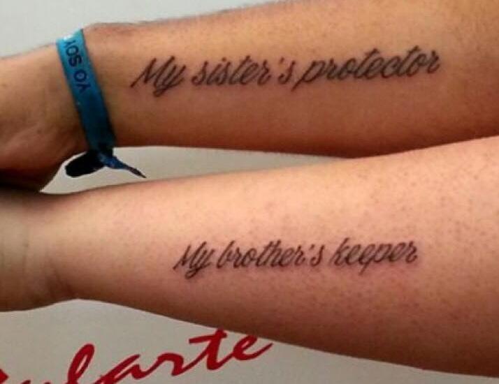Best Sibling Tattoo Idea