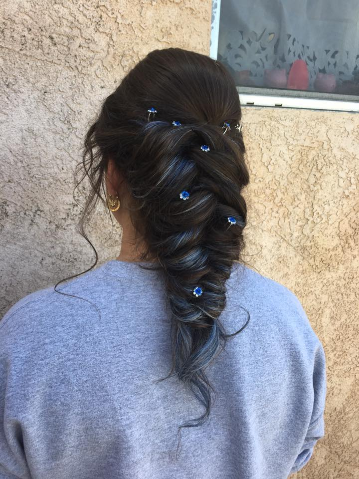 Blue Loose Braid