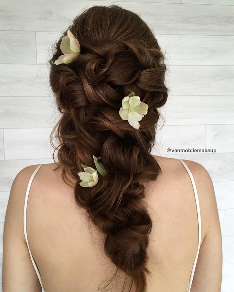 Bohemain Wedding Hairstyle