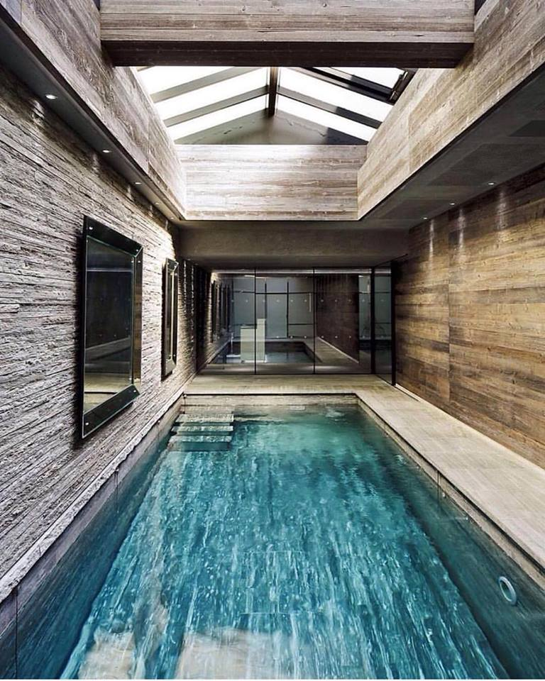 42 luxurious indoor swimming pool ideas for a heightened feel for Modern house designs with indoor pool