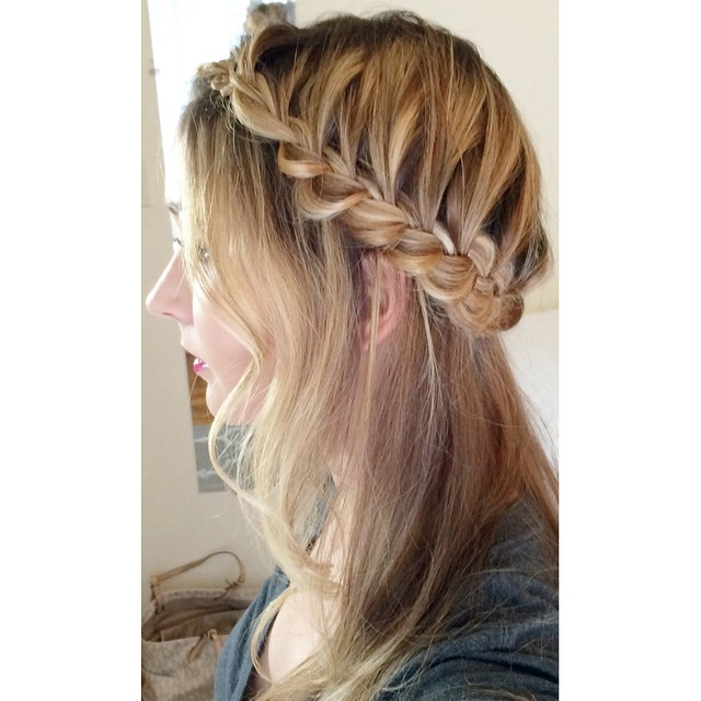 Classic Crown Braid Hairstyle