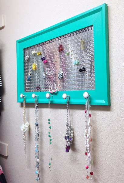 Color Your Drawer And Use As Jewelry Organizer