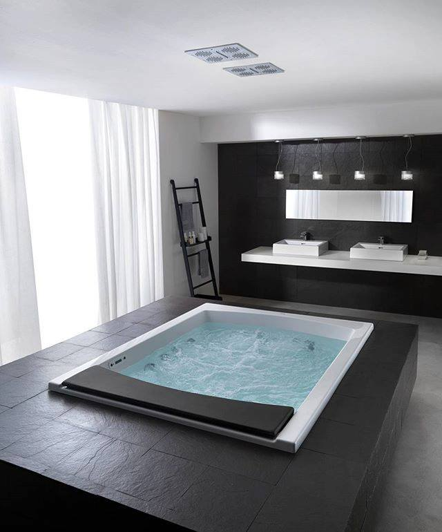 Contemporary Black & White Bathroom