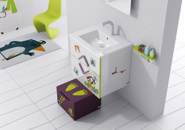 Cool Colorful Kids Bathroom Design