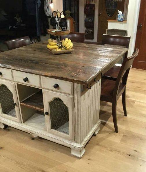 Creative Idea To Use Old Buffet Into A