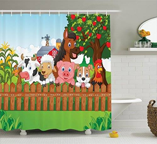 Decorative Whimsical Kids Shower Curtains In Kids Bathroom