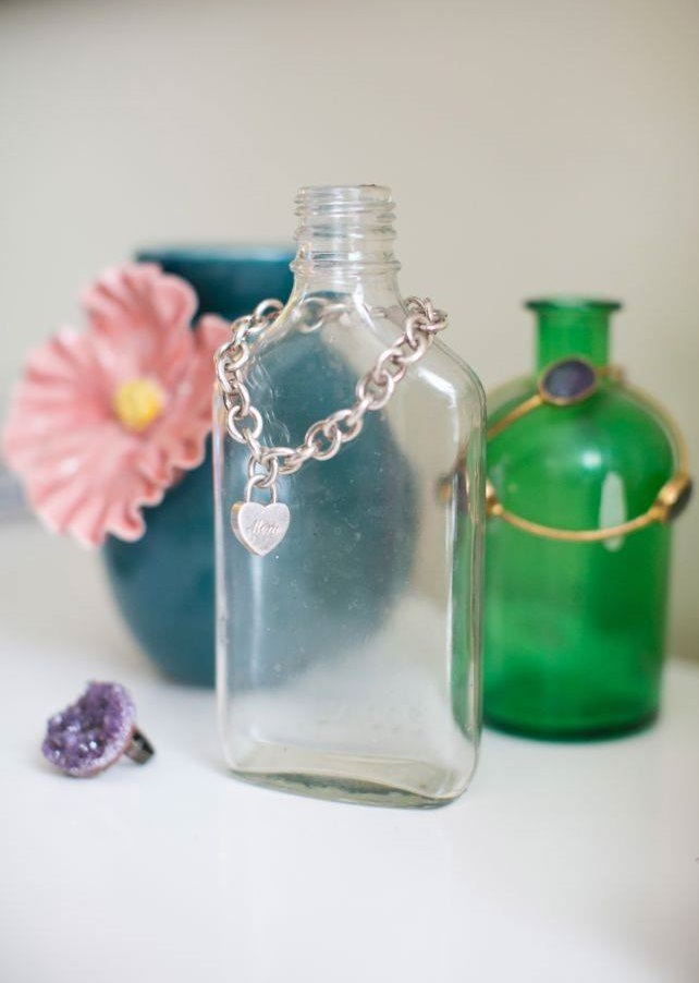 Empty Bottle Used To Organize And Store Jewelry