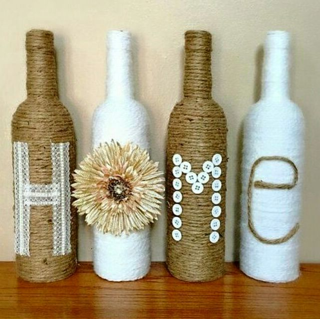 Fabolous DIY Home Decoration Idea By Using Buttons And Jute