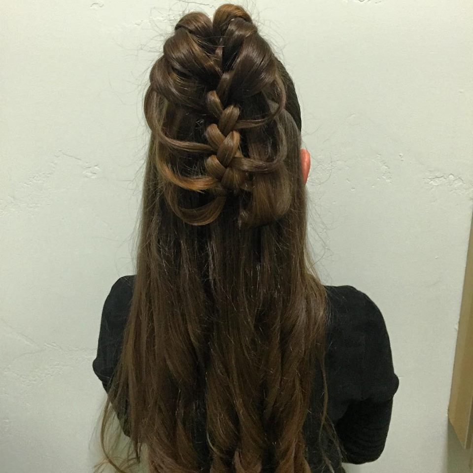 Fabulous Half Up Cage Braid