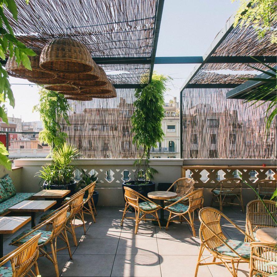 Terrace garden design pictures - Fabulous Terrace Garden Design With Beautiful Furniture