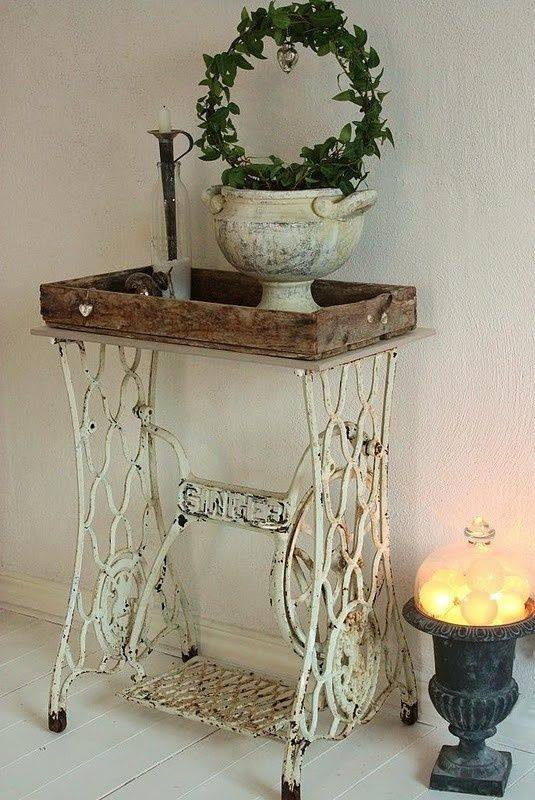 Fantastic Idea To Used Old Swing Machine For Decoration