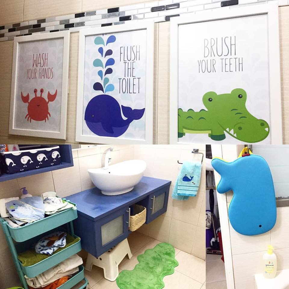 Funky Kids Bathroom Design With Sea Animals