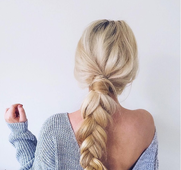 Funky Loose Braid Hairstyle Idea