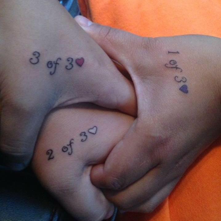 Glamorous Little Heart Sibling Tattoos