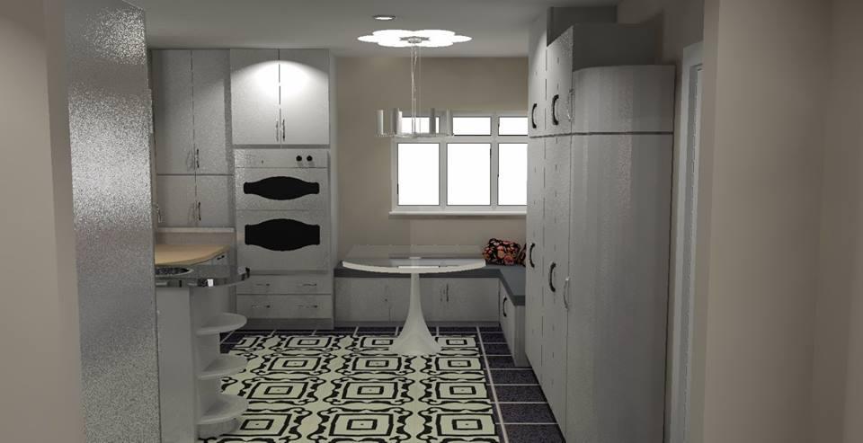 Art deco style kitchen cabinets comfortable art deco for Art deco kitchen designs
