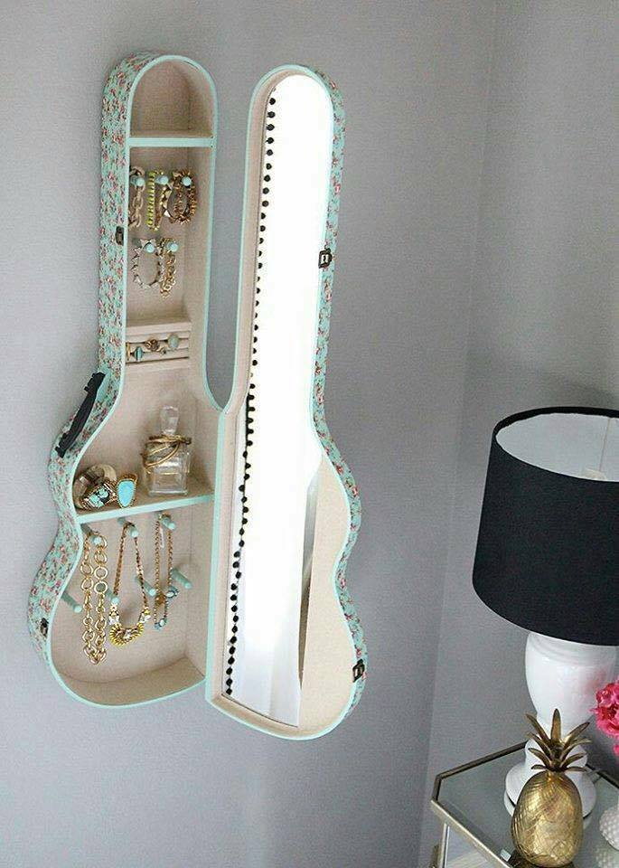 Guitar Case Used To Organize Your Jewelry