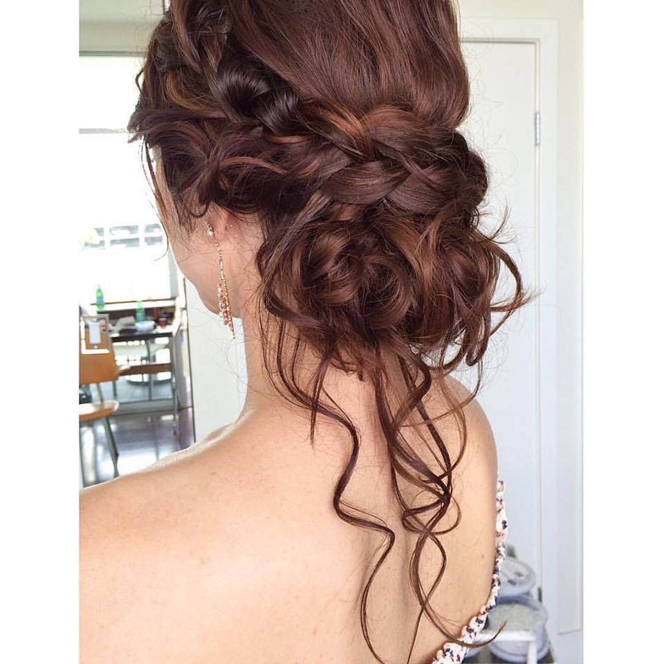 Loose curls With French Braid Wedding Hairs