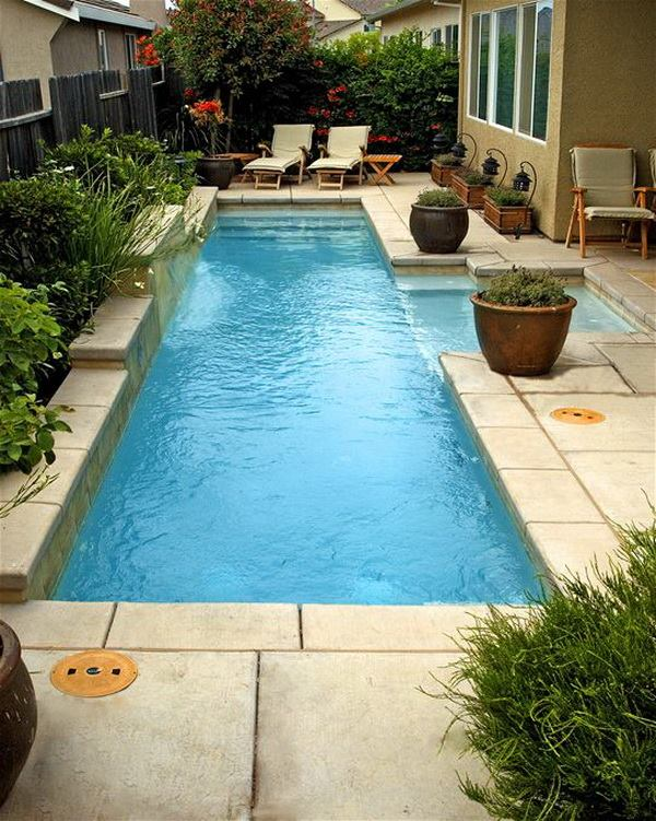 Lovely Swimming Pool Design With Plants